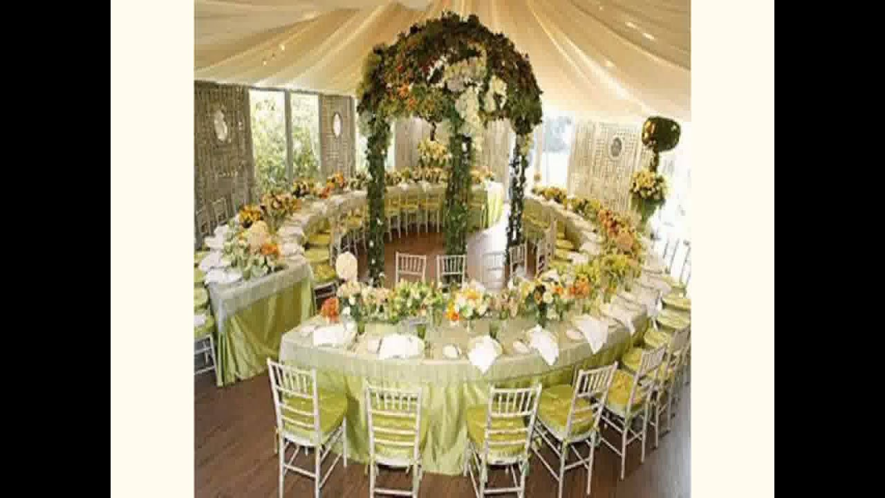 New wedding venue decoration youtube for Wedding decoration images