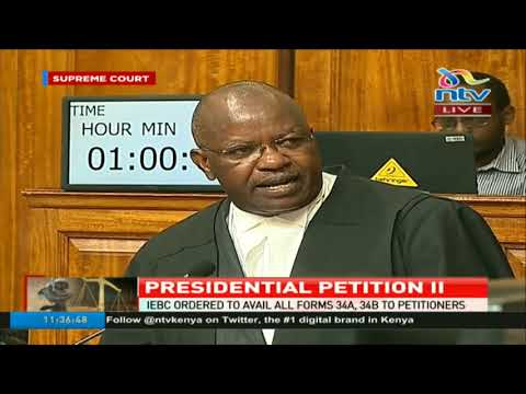 Supreme court allows scrutiny of election materials, all forms 34A and 34B