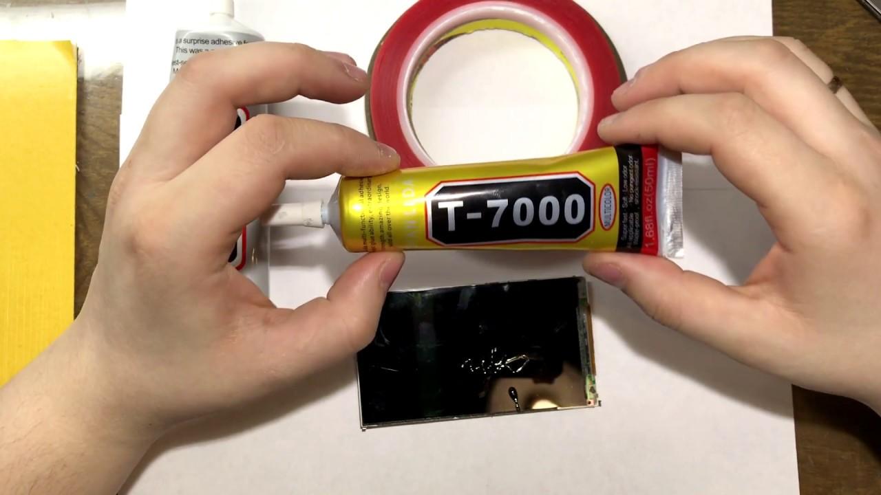 Тест клея B7000 на электропроводимость - YouTube