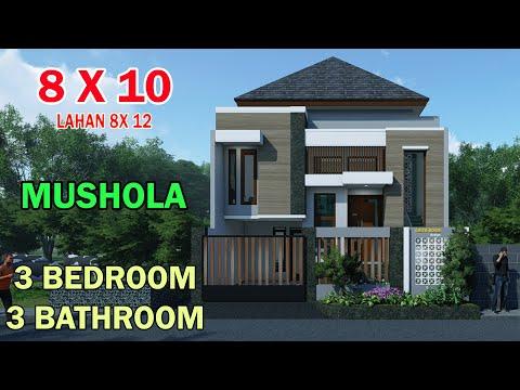 Rumah Minimalis Split Level 1 5 Lantai 8x10 Meter 3 Kamar 4 Toilet Ruang Kerja Musholla Lahan 8x12 Youtube