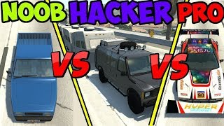 BeamNG Drive - Noob VS Pro Vs Hacker (Crashes & Stunts)