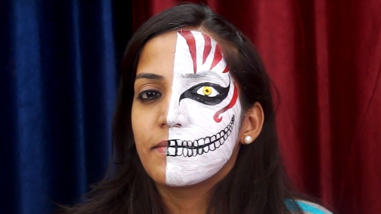 Face Painting Tutorial Scary Face Painting Halloween Face Painting Ideas How To Face Paint Youtube