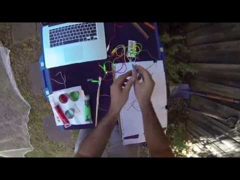 Makey Makey and Scratch Interactive Painting Lesson