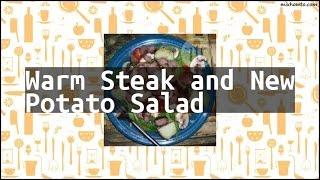 Recipe Warm Steak and New Potato Salad