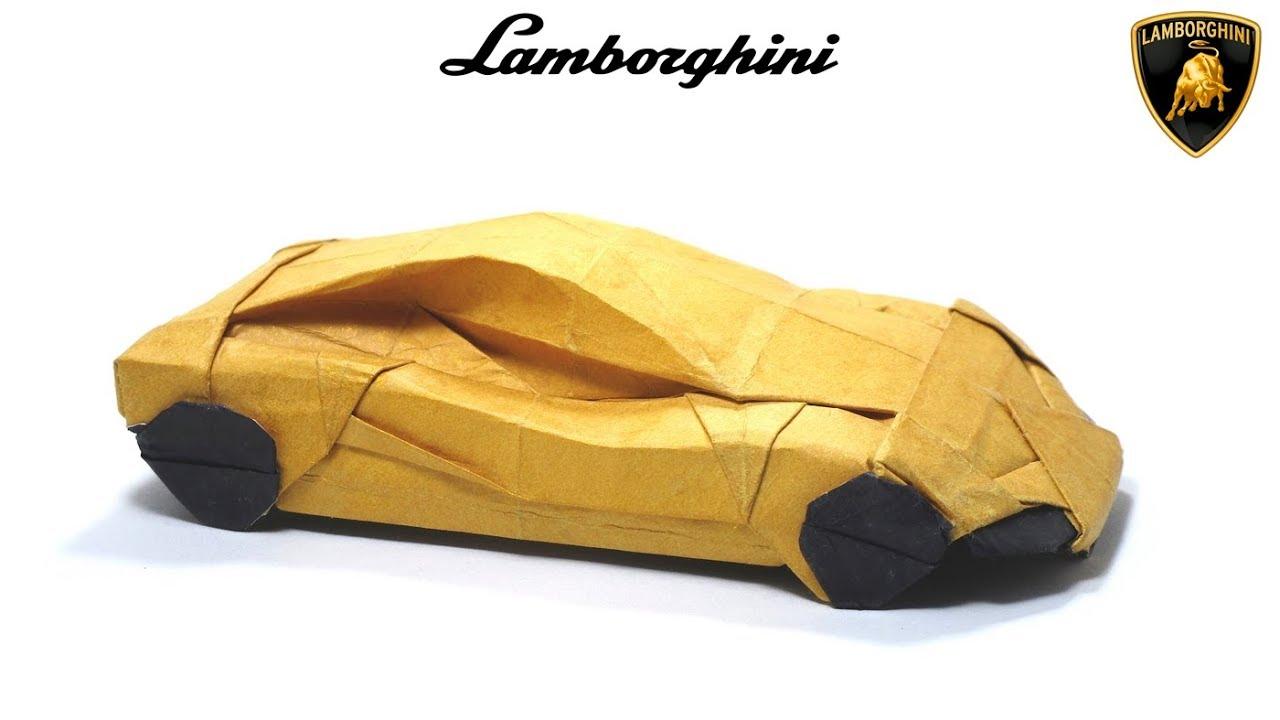 ORIGAMI LAMBORGHINI TUTORIAL Im Young Gwang SPORT CAR Automobile Cabriolet
