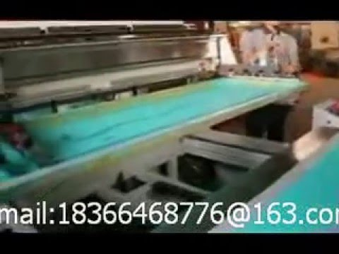 large screen printing machine with sliding table