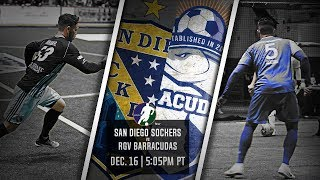 San Diego Sockers vs RGV Barracudas