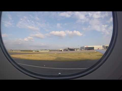 Take off in Dusseldorf airport