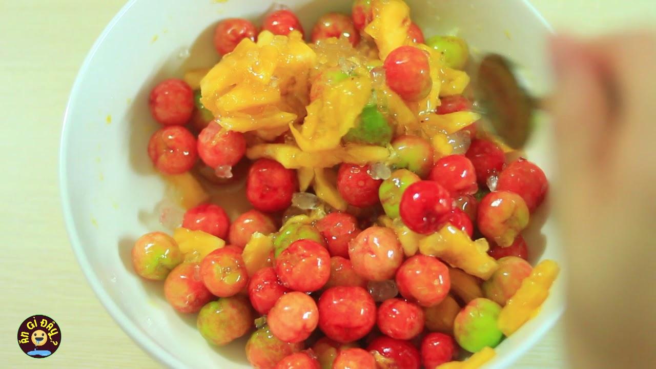 Cách nấu nước trái cây sơ ri và khóm thơm ngon tại nhà