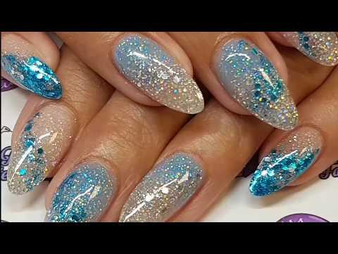 Acrylic Redesign - Glam & Glitz & CJP Acrylic - Blue - Silver - Glitter - Glow