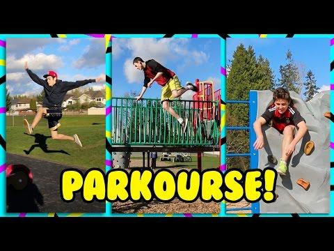 Playground Parkourse! ( Parkour fails and Nigahiga Remake )