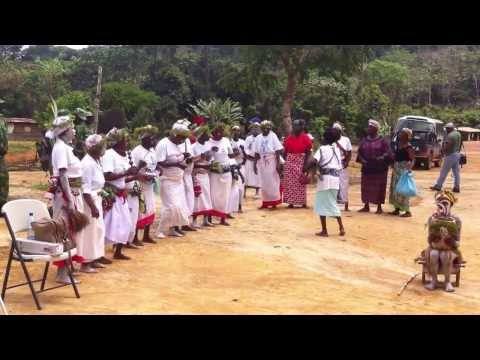 Traditional dance before 2013 solar eclipse at Mikongo, Gabon
