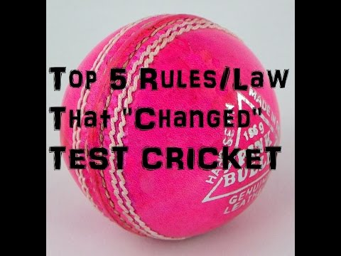 Top 5 Laws/Rules That Changed Test Cricket Forever (Subtitles Included)