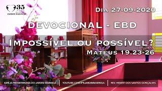 Mateus 19.23-26 - Impossível ou possível?