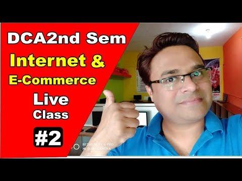 माखनलाल यूनिवर्सिटी DCA 2nd Sem Internet & E-Commerce #2
