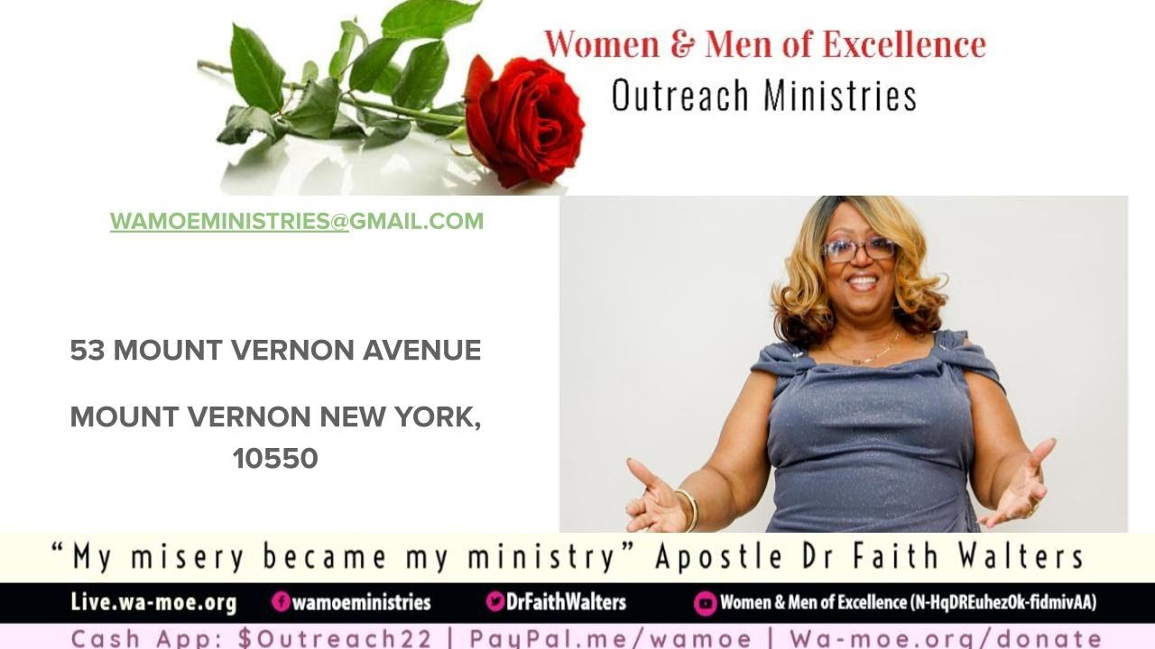 W.A.M.O.E Outreach Ministries | SPECIAL BIRTHDAY LIVE SERVICE | Apostle Dr Faith Walters
