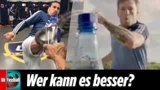 Zlatan und McGregor treten zur Bottle-Cap-Challenge an