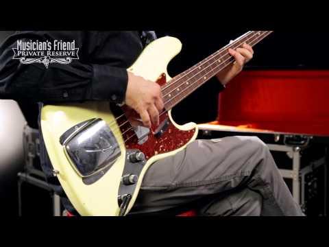 Fender Custom Shop 1960 Jazz Bass Relic Electric Bass Guitar, Vintage White