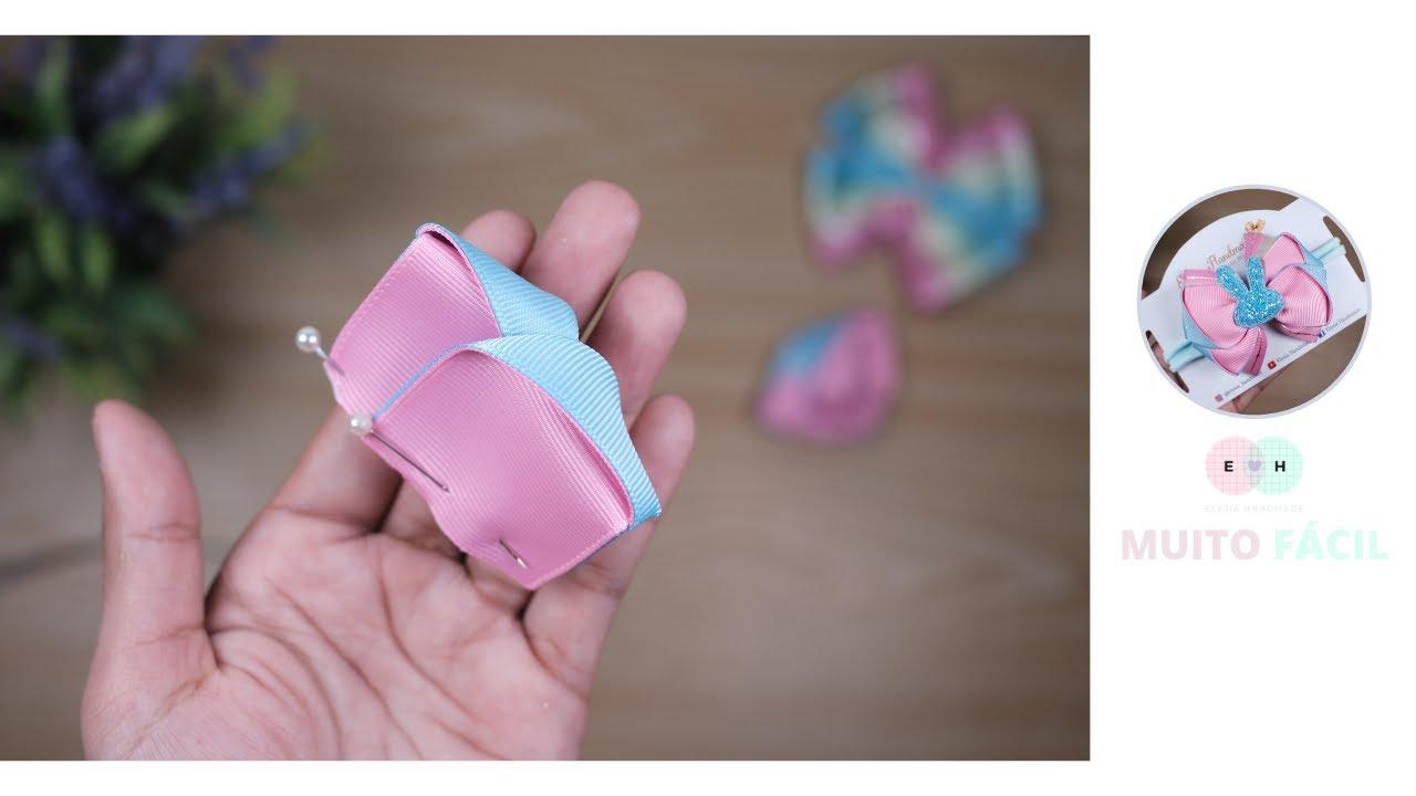 Lindo laço empilhado usando minha variação de cor favorita - fita de gorgorão n9 | Elysia Handmade