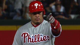 Carlos Ruiz has a career night against the Braves