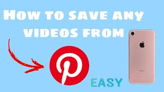 How To Save Any Videos from Pinterest 2019!(Very easy)(ios only)