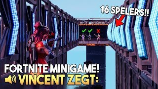 VINCENT ZEGT 8.0 *MET 16 SPELERS* - Fortnite Creative (Nederlands)