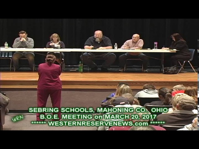 SEBRING OHIO SCHOOLS BOARD OF EDUCATION MARCH MEETING ABBEY SCOTT