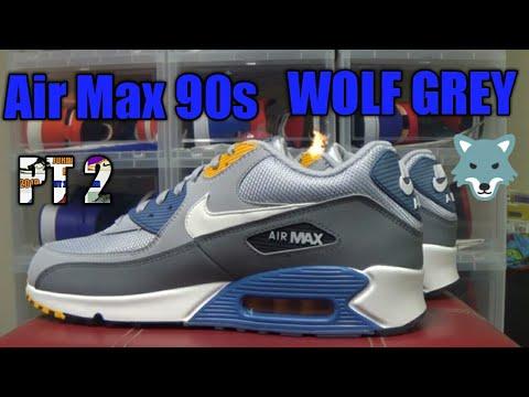 wholesale dealer 93891 04d14 NIKE AIR MAX 90 ESSENTIAL wolf (greywhite indigo storm)