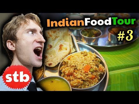 MASSIVE Veg Thali on a Banana Leaf // SOUTH INDIAN FOOD Travel Tour #3