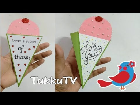 Thank You Card Ideas   How To Make Beautiful Thank You Card   TukkuTV