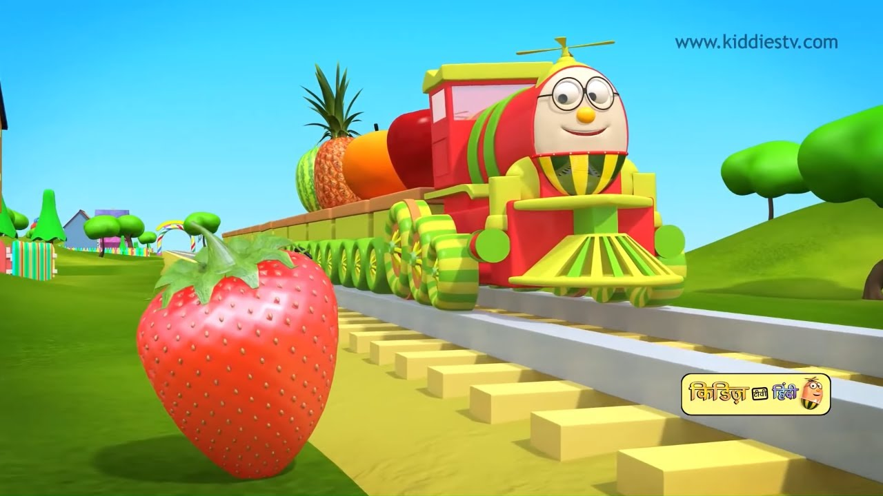 Humpty the train on a fruits ride and many more | हम्प्टी ट्रैन के वीडियो | Kiddiestv Hindi