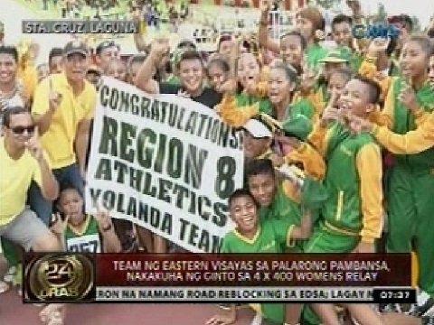 Team ng Eastern Visayas sa Palarong Pambansa, nakakuha ng ginto sa 4 x 400 womens relay