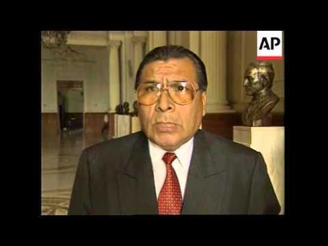 PERU: POLITICAL LEADER PAREDES CANTO CORRUPTION INVESTIGATION