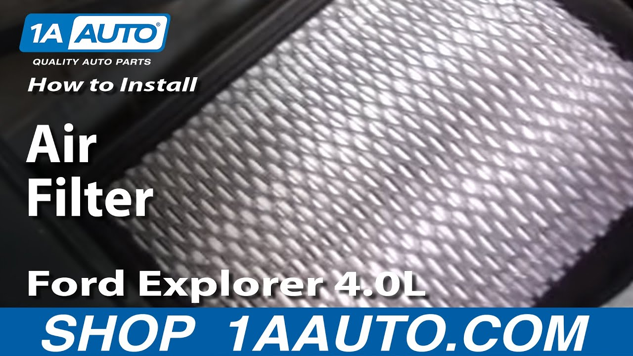 How To Install Replace Air Filter Ford Explorer 40l 97 05 1aauto 2005 3 0 V6 Plug Wire Diagram 1aautocom