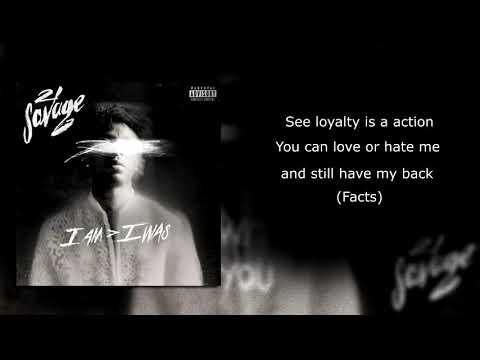 21 savage - ball w/o you (Lyrics)