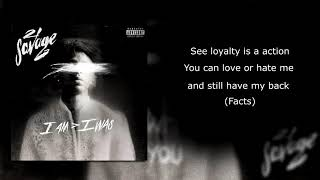 21 savage - ball w/o you (Lyrics)