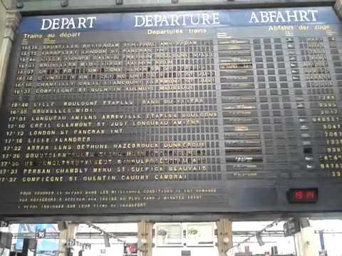 panneau affichage des trains paris nord g ant youtube. Black Bedroom Furniture Sets. Home Design Ideas