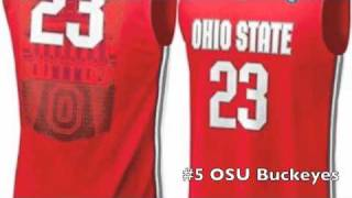 Top 10 NCAA basketball jerseys