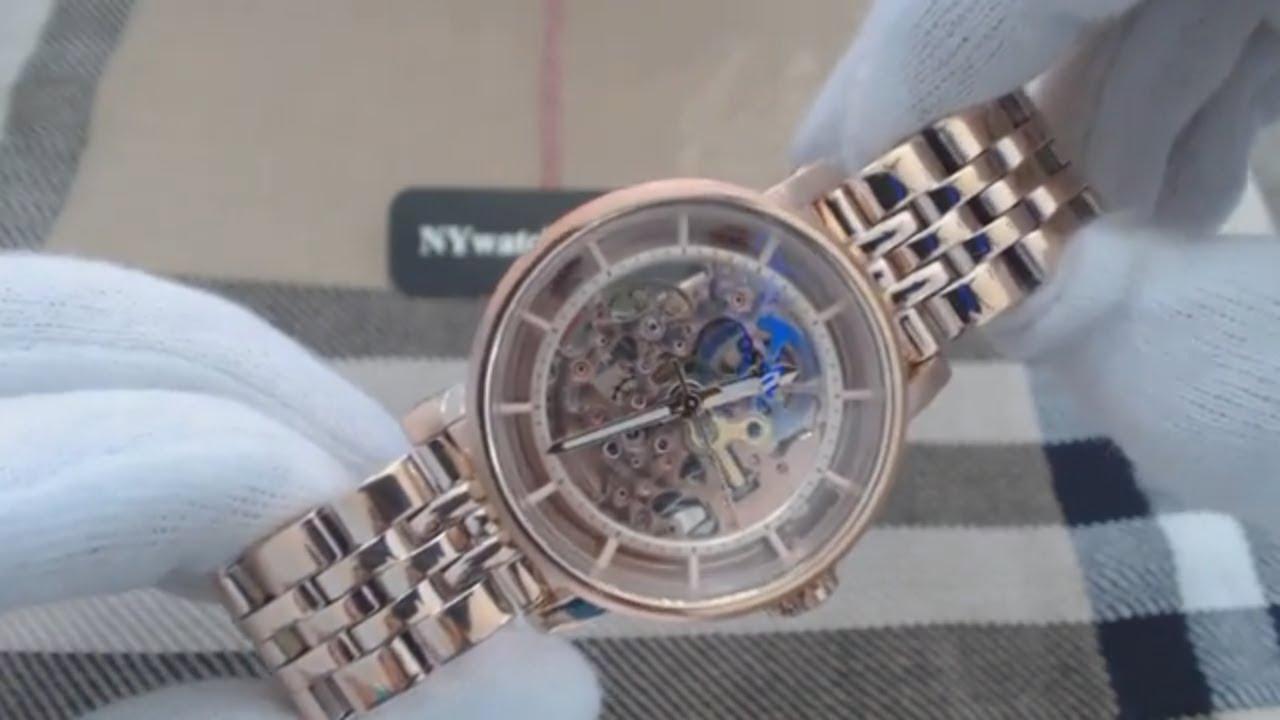 Womens Rose Gold Fossil Original Boyfriend Automatic Watch Me3065 Es3590 Stella Multifunction Tone Stainless Steel