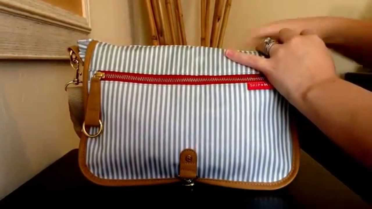 Quick Trip Out With My Skiphop Soho Crossbody Diaper Clutch In French Stripe You