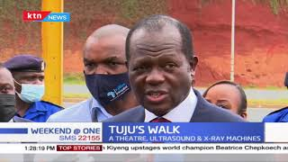 Raphael Tuju to walk back to Kijabe hospital 16 months after his car collided head-on with a matatu