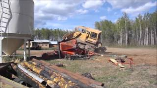 Land clearing and crushing equipment with D6D  cat