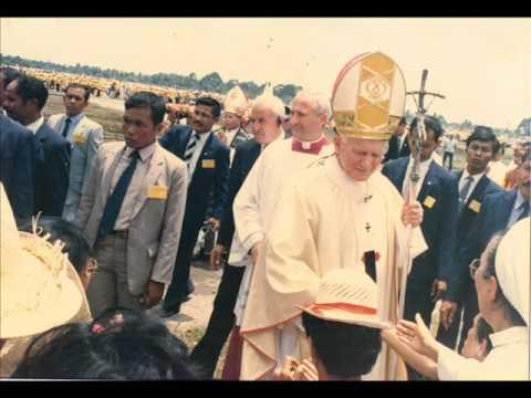Saint John Paul II visited Medan, Indonesia October 1989