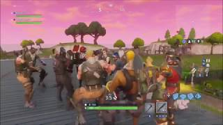 30 people Ride the Pony and Head Glitch - Fortnite!!!