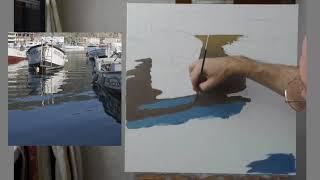 Юрий Клапоух. Отражение на воде. Урок для начинающих.
