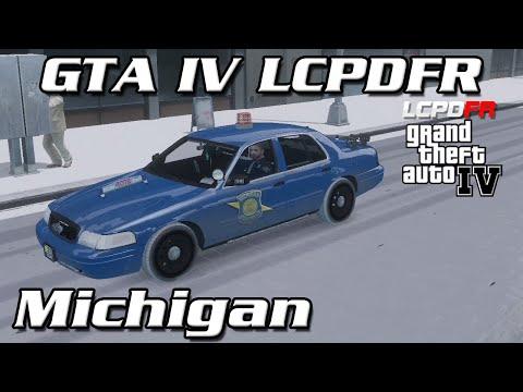 GTA IV LCPDFR MP - Michigan State Police - Snow Mod