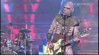 Lordi - Hard Rock Hallelujah (Finland) 2006 Eurovision Song Contest Winner(We are already counting down to the 2012 Eurovision Song Contest in Baku. We do that by looking back to recent editions of Europe's favorite TV show., 2011-12-26T15:49:46.000Z)