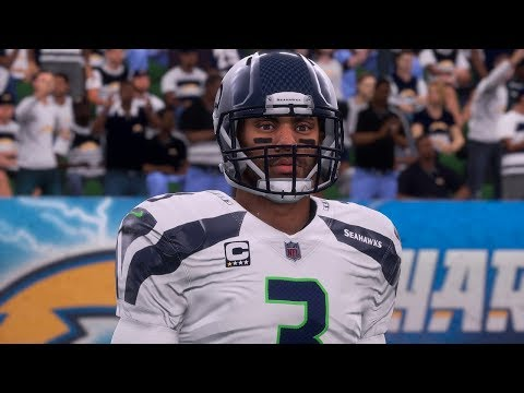 Madden 18 Seahawks vs Raiders Exhibition Full Game Play on Xbox One
