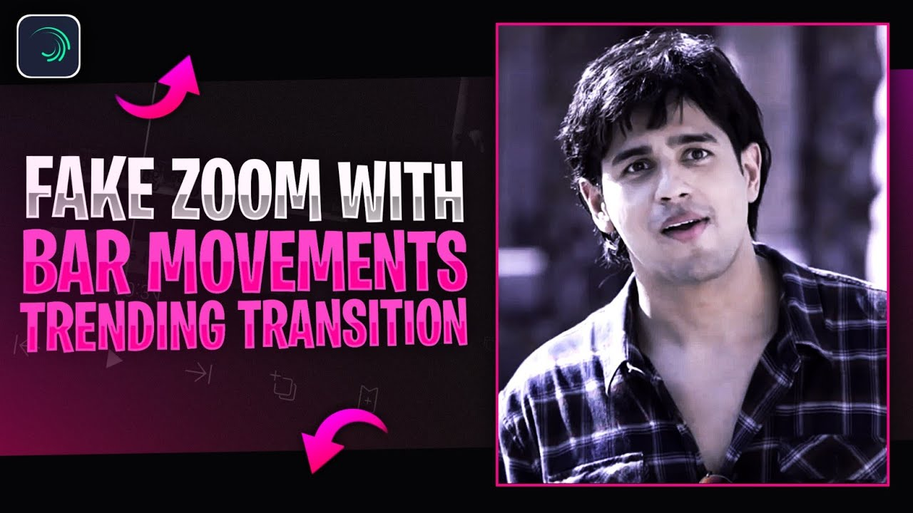Fake Zoom Transition🔥 with Black border movement In alightmotion | Alightmotion tutorial malayalam