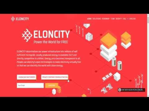 ICO Eloncity - Private Sale / Public Sale